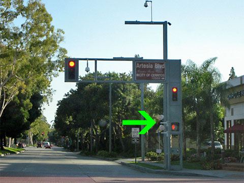 Beautiful This Photo By Sch2006 Shows A Red Light Enforcement System In Cerritos,  California. Awesome Design