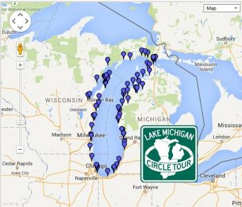 Lake Michigan Circle Tour POI Factory - Lake michigan circle tour map