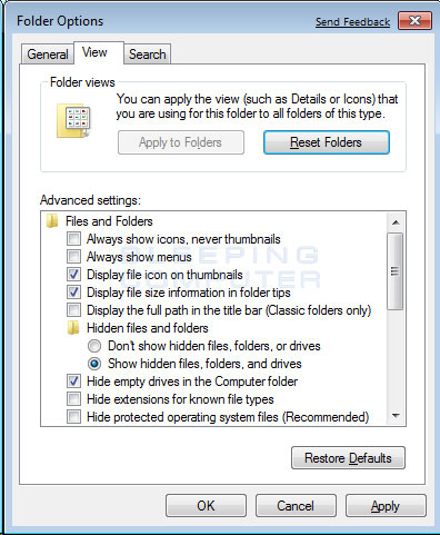how to find hidden files on your computer